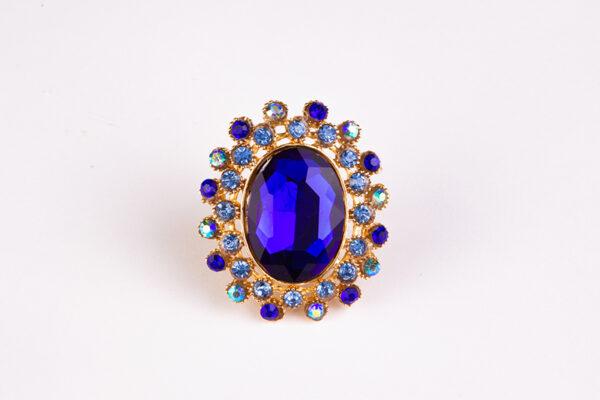 ring – blue – diamond – metal – gold – für den besonderen anless der frau einen diamant ring- 1