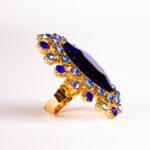 ring – blue – diamond – metal – gold – für den besonderen anless der frau einen diamant ring- 2